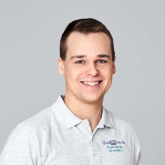 Mathias Nielsen, IT-tekniker og stifter af GladTeknik.